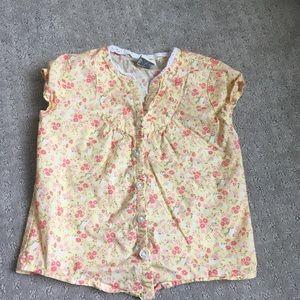 Other - 5/$20 Girls 3T Cherokee Yellow Button Down Shirt